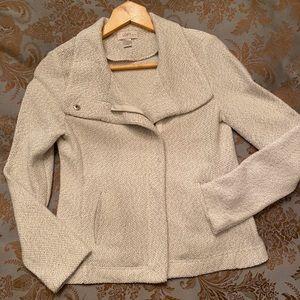 Loft NWT Beige Knit Moto Jacket (XSP)